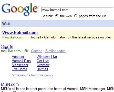 Sinds wanneer valt Hotmail onder Ask.com?
